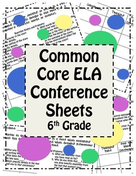 Workshop Conference Sheets (6th) - CCSS Aligned