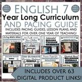 ELA 7 Yearlong Curriculum and Pacing Guide
