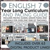 7th Grade ELA Yearlong Curriculum, Lesson Plans, and Pacing Guide