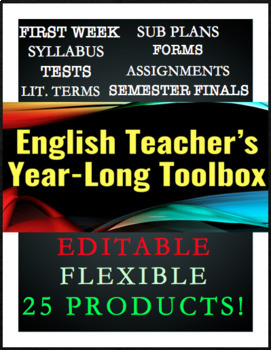 Back To School ELA 9-10 Essentials Kit: Syllabus, Sub Plans, Rubrics, Final Exam