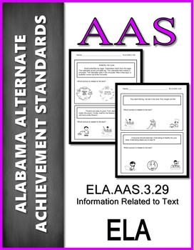 ELA.AAS.3.29 Information Related to Text Alabama Alternate Achievement Standard