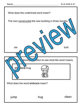 ELA.AAS.4.41 Context Clues  Alabama Alternate Assessment AAA