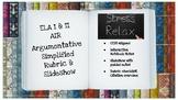 ELA AIR Argumentative Rubric w/ Slideshow