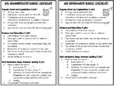 ELA AIR Informative and Argumentative Checklist