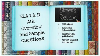ELA AIR Overview Slideshow and Notes (Grades 9-10)