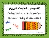 ELA Abbreviations Activities Common Core