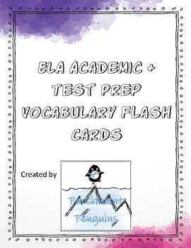 ELA Academic & Test Prep Vocabulary Flash Cards
