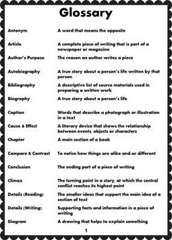 ELA CCSS Academic Vocabulary -- Grades 2-4