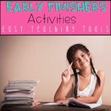 ELA Activities for Early Finishers {20 Engaging and CCSS aligned}