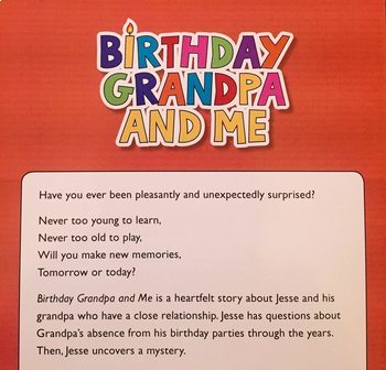 ELA Activities for book, Birthday Grandpa and Me by Becca Engelbrecht