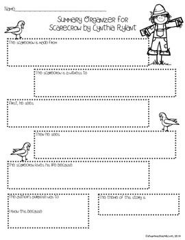 ELA Activities to accompany Scarecrow Mentor Text