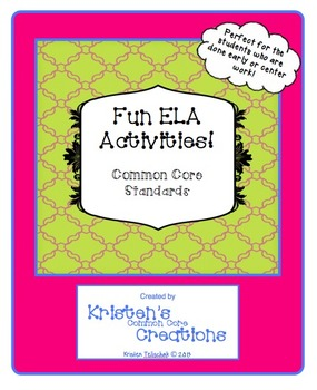 ELA Activity Series High-Interest Games for Elementary Lev