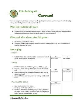 ELA Activity - Suffix Carousel