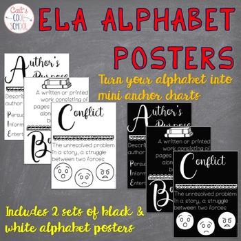 ELA Alphabet Anchor Charts