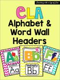 ELA Alphabet: Chevron Edition