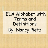 ELA Alphabet Posters with Terms and Definitions