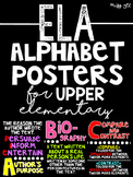 ELA Alphabet Posters for Upper Elementary