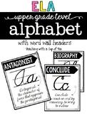 ELA Alphabet for Upper Grades