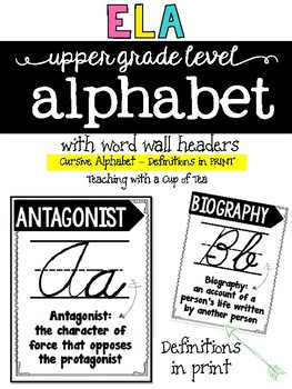 ELA Alphabet for Upper Grades {Print Edition}
