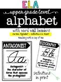 ELA Alphabet for Upper Grades {Print Edition}