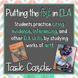 ELA Analysis Using Art - Task Cards - Theme - Citing Evidence - Setting - POV