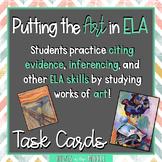 ELA Analysis Using Art - Task Cards - Theme - Citing Evide