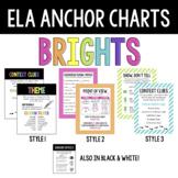 ELA Anchor Charts, Brights Bundle