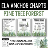 ELA Anchor Charts, Pine Tree Forest Bundle
