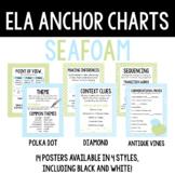 ELA Anchor Charts, Seafoam Bundle