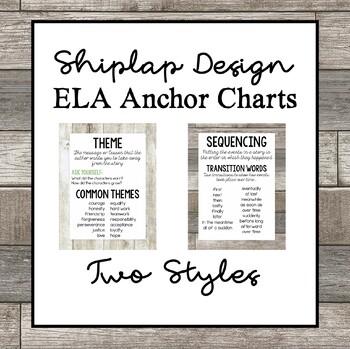 ELA Anchor Charts, Shiplap Bundle