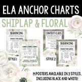 ELA Anchor Charts, Shiplap & Floral Bundle