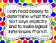ELA Anchor I Can Statements for CCSS Standards (Black Polka Dots)