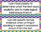 Anchor - ELA CCSS I Can Statements (Jewel Chevron and Gray Chevron)