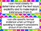 ELA Anchor I Can Statements for CCSS Standards (Rainbow Polka Dots)