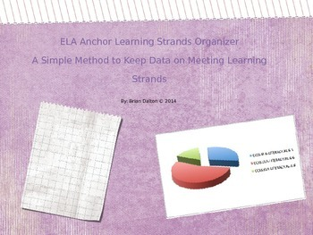 ELA Anchor Learning Strands Organizer: Keep Data on Meeting Learning Strands