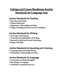 ELA Anchor Standards