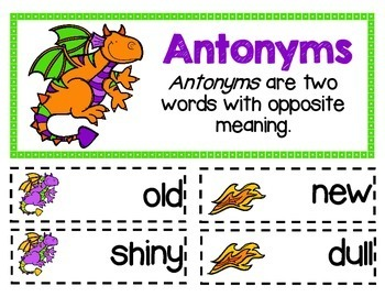 ELA - Antonyms - Mini Lesson