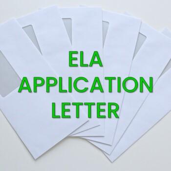 ELA Application Letter