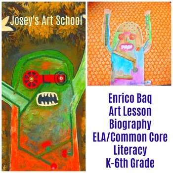 ELA Art Lesson Enrico Baq Fire Fire Kinder 6th Grade Art History Drawing Collage