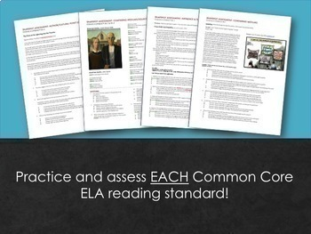 ELA Assessment Snapshots: Reading Assessments for Each Individual CCSS Standard