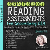 ELA Assessment Snapshots VOL. 1: Reading Assessments for E