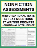 ELA Assessment & Test Prep: Reading Informational Text, Writing, SEL Bundle