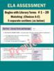 ELA Assessment - Exam with Test Review MINI-BOOK - Grades
