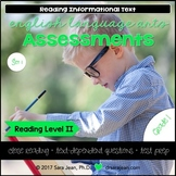 1st Grade • Reading Comprehension Passages and Questions • RL II