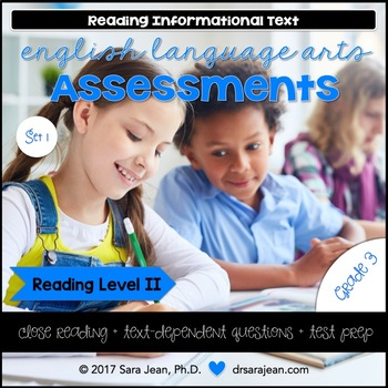 3rd Grade • Reading Comprehension Passages and Questions • RL II