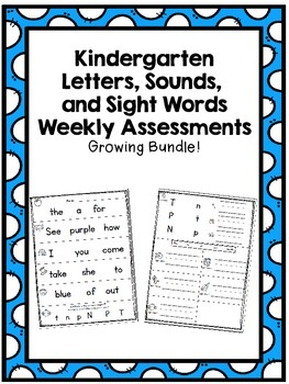 Letters, Sounds, and Sight Words Assessment Bundle