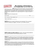ELA: Assignment/Test/Quiz Correction & Reflection Form