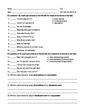 ELA COMMAS Direct Address, Introductory Words, Tag Questions WORKSHEETS x3, TEST