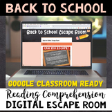 ELA Back To School DIGITAL Escape Room - Common Core Aligned