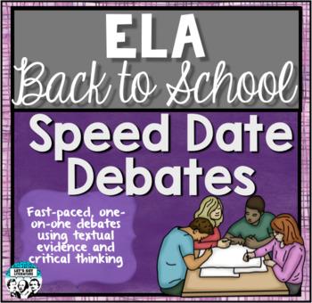 ELA Back to School Speed Date Debates